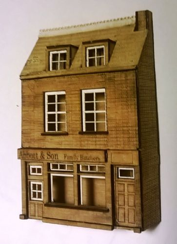 ARCH N0028 N Gauge Arch laser Low Relief Butchers Shop (Kit)